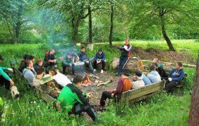 Obóz kajakowy na Sazawie