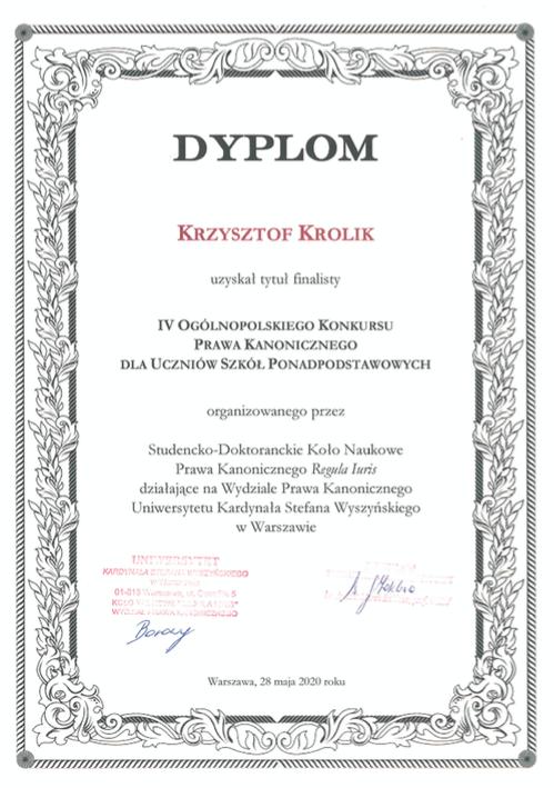 Sukces Krzysztofa Krolika